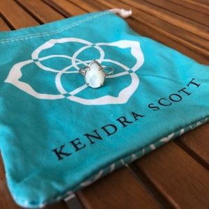 Kendra Scott Ring Silver w/ Ivory Mother of Pearl
